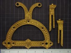Steampunk Parts RARE Vintage clock movement flower leaf decorative brass hardware for Industrial sculpture mixed media Craft Supplies 3049