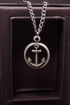 His Anchor Necklace Free Shipping by kasual2klassy on Etsy, $23.00