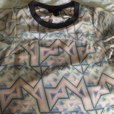 Marc by Marc Jacobs blue and pink top Silk top with poly cami. Worn once . Fits like a large even x large Marc by Marc Jacobs Tops Blouses