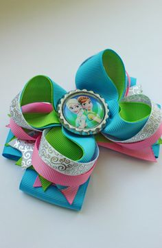 Frozen Girl Hair bow frozen fever hair bow/ от Boutiqueofbeauty
