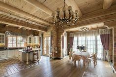 Деревянный дом под ключ-интерьер гостиной