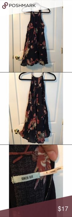 Urban Outfitters floral and navy dress Oh gosh I love this dress so much. It's a great fit, and is super light weight which is great for the spring and summer. I only wore it once to a dinner. Urban Outfitters Dresses Midi