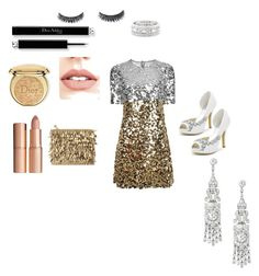 """Untitled #20"" by nusreta-bjelic ❤ liked on Polyvore featuring Dolce&Gabbana, Forest of Chintz, Christian Dior, Jouer, Charlotte Tilbury and Sole Society"