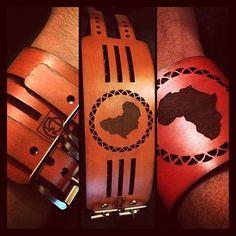 Africa cuff - brown