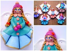 keeko: Salt dough angels for sale.  How adorable and bright are these?