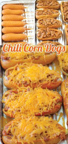 Chili dogs are good, but if you take corndogs and make chili cheese corndogs, they are delicious!! Smart School House shows us today how to do just that! This recipe is super simple and perfect for game day!! Baked Corn Dogs, Quick Meals, Beef Recipes, Hot Dogs, Chili, Sausage, Good Food, Baking, Fast Meals