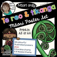 Te Reo Maori Posters for Maori Medium Classrooms by The Inspired Kiwi Maori Words, English Posters, School Resources, Classroom Resources, Montessori Homeschool, Birthday Songs, Maori Art, Classroom Displays, Color Shapes