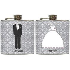 Bride and Groom Wedding Toast Flasks Gift
