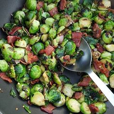 Bacon Garlic Brussel Sprouts