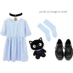 """kitty"" by houseofwolff on Polyvore"