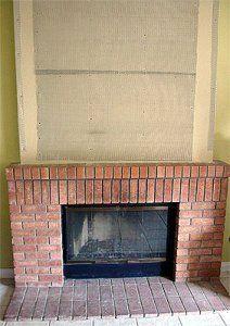 Slate Tile Fireplace Before