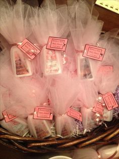 This is what I was talking about yesterday... I can wrap them in tulle with a cute little note attached More