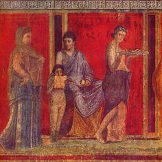 Roman fresco from Villa dei Misteri in Pompeii