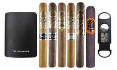 Gurkha Cigar Sampler from Gotham Cigars (6-Pack): Gurkha Cigar Sampler with a Single-Blade Cutter from Gotham Cigars (6-Pack)