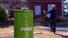 En stöldsäker postlåda som vid behov rymmer hela semesterns post