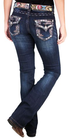 5334da6bff1d9 calca grace in la feminina importada embellished brown blue boot cut p9782  - Busca na Loja Cowboys - Moda Country, Selaria e Decoração