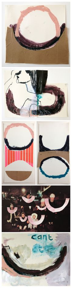 Mixed media collages by Erna Reiken
