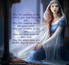 May the Goddess shine within you and through you...