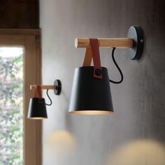 Modern minimalist wooden wall-mounted Lamp. This lamp will add modern nordic features to any room in your house. Light bulb: Not included Dimmable: No Base Type: E27 Voltage: 90-260V Power Source: AC Light Source: LED Bulbs Material: Metal Wooden Wall Lights, Wooden Lanterns, Led Wall Lights, Wood Lamps, Wooden Walls, Pendant Lights, Wood Lights, Hanging Lights, Pendant Lamps