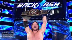 The NEWWW WWE WORLD CHAMPION THE PHENOMENAL ONE AJ STYLES! Sad Ambrose had to lose but it was one hell of a match. So proud of them both but now AJ Styles has held the top title in every promotion