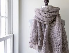 Open Air Wrap in Linen Quill | Purl Soho