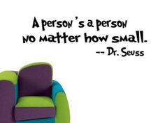 Amazon.com: A PERSON'S A PERSON Dr Seuss Quote Vinyl Wall Art Decals Nursery Kids Room Wall Sticker Children Baby Girls Bedroom Wall Decor: Baby