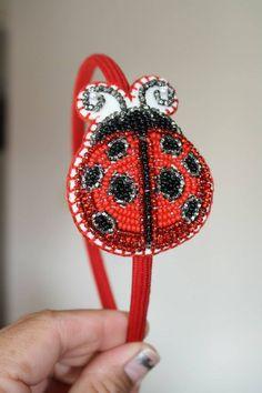 Another ladybug headband that I have beaded