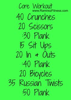 Workout your core!