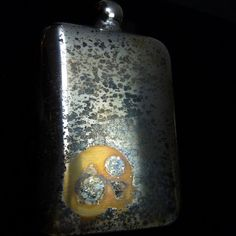 SKULL FLASK  Gifts for Men Bikers Rockers and Cool by theraveniron, $60.00