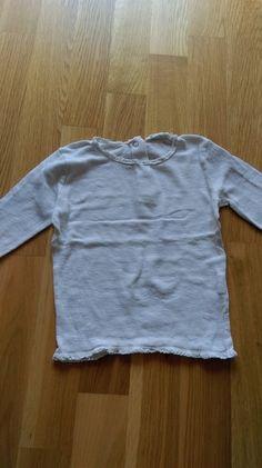Weißes Feinripp-Langarmshirt