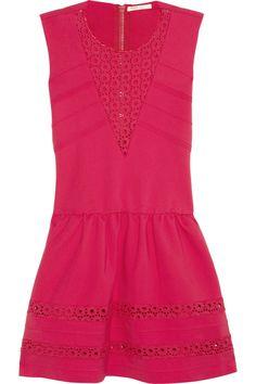 Maje|Acrobate stretch-crepe jersey mini dress|lovely