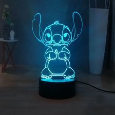 One Color, Color Change, Usb Lamp, Cute Stitch, 3d Light, Acrylic Panels, Night Lamps, Led Night Light, Screen Wallpaper