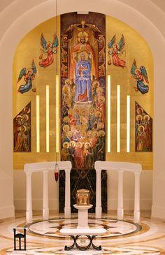 mural at Madonna della Strada Chapel at Loyola University Chicago,