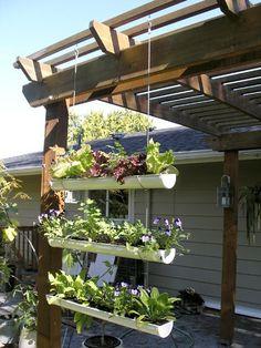 Een hangende moestuin maken garden
