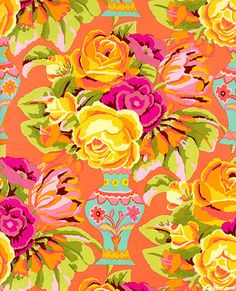 Kirman' by Kaffe Fassett for Rowan Fabrics.  Fun brights that don't look too trendy, I love this!