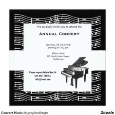 Sold this #concert #music #competition #invitations to CA. Thanks for you who purchased this. Check more at www.zazzle.com/graphicdesign/music