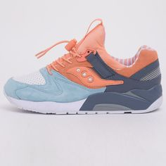 big sale 4627f 828a4 Saucony x Premier Grid 9000  Street Sweets  Light Blue White Peach S70265