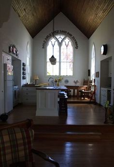 8 Converted Churches You Can Rent as Vacation HomesCharming Canadian Church | Interior Originally built in 1863, the Holy Trinity Anglican Church was bought and renovated in 2007 and turned into a three-bedroom home, overlooking one of Canada's oldest communities.