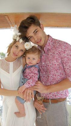 They are soo cute Francisco Lachowski and Jessiann Gravel with Milo Lachowski