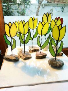 Tiffany glas kunst Tiffany tulip tulip glas glazen door TheBexShop