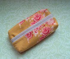Taschentücher-Taschen - JanuarTraum Taschentüchertasche Rosen rosa gold - ein Designerstück von MiMaKaefer bei DaWanda