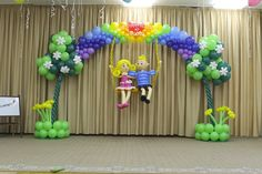 Balloon Flowers, Balloon Arch, Jungle Balloons, Columns Decor, Birthday Balloon Decorations, Christian Crafts, Garden Birthday, Wedding Ceremony Backdrop, Party Time
