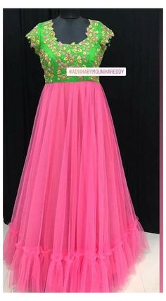 Kids Party Wear Dresses, Gown Party Wear, Party Wear Indian Dresses, Indian Gowns Dresses, Indian Fashion Dresses, Indian Dresses For Kids, Long Frocks For Kids, Frocks For Girls, Girls Frock Design