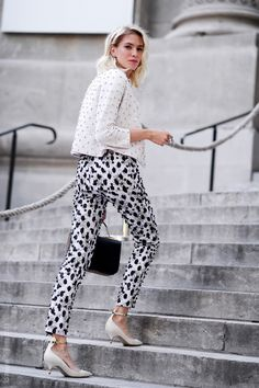 #black #white #print #fashion #street #style