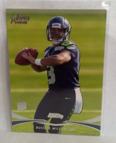 2012 Topps Prime #78 Russell Wilson Rookie Card Team: Seattle Seahawks #SeattleSeahawks
