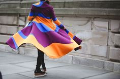 Lessons In Layering From The Streets Of New York City #refinery29  http://www.refinery29.com/2016/02/103173/ny-fashion-week-fall-winter-2016-street-style-pictures#slide-34  Dancing in the streets......