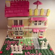 Lego Friends House Cake