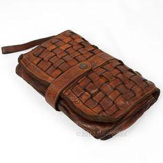Intrecciato Woven Leather Clutch, CACCINI by Campomaggi   Marcopoloni