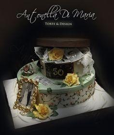 vintage anniversary boxes  Cake by antonelladimaria