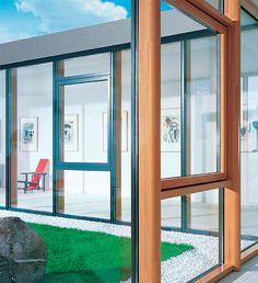 Dřevohliníková prosklená fasáda - okna, eurookna, vchodové dveře ALBO®